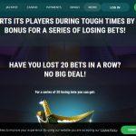 22bet te recompenseaza si pentru seriile negre la pariuri